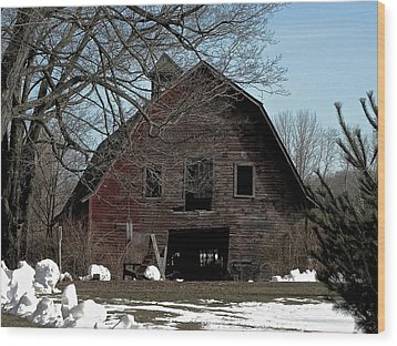 Welcome Wood Print by Bonni Belle Winter