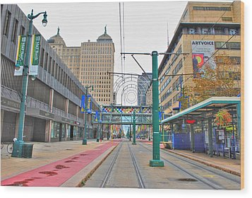 Wood Print featuring the photograph Welcome To Dt Buffalo by Michael Frank Jr