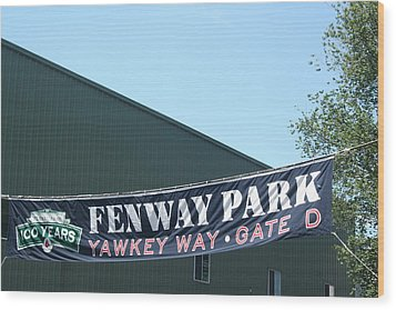 Welcome To Fenway Park Wood Print by Stephen Melcher