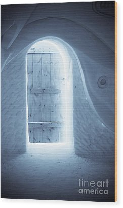 Welcome To The Ice Hotel Wood Print by Sophie Vigneault