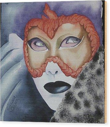 Well Worn Mask Wood Print by Teresa Beyer
