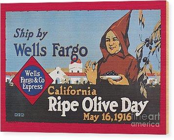 Wells Fargo Express, 1916 Wood Print by Granger