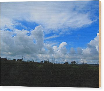 Welsh Sky Wood Print