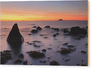 West Coast Sunset Wood Print by Grant Glendinning