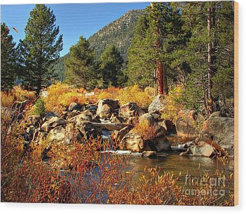 West Fork Of The Carson River Fall Colors Wood Print by Scott McGuire
