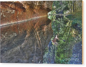 Wood Print featuring the photograph West Fork Reflection by Tam Ryan