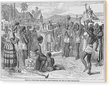 West Indies: Emancipation Wood Print by Granger