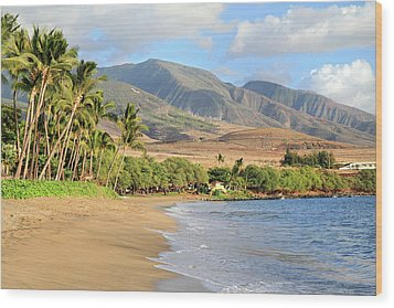 West  Maui Wood Print by Pierre Leclerc Photography