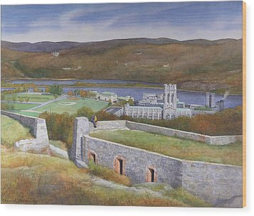 West Point From Fort Putnam  Wood Print by Glen Heberling