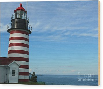 Wood Print featuring the photograph West Quoddy Lighthouse by Jeanne  Woods
