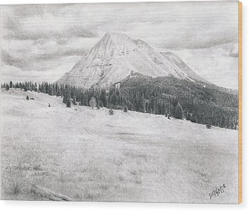 West Spanish Peak Wood Print