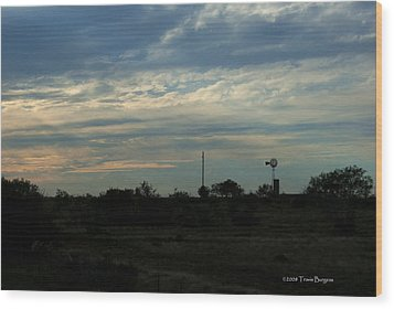 West Texas Sunset Wood Print by Travis Burgess