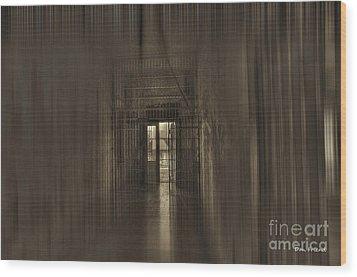 West Virginia Penitentiary Hallway Out Wood Print by Dan Friend