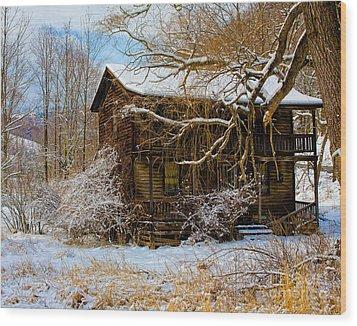 West Virginia Winter Wood Print