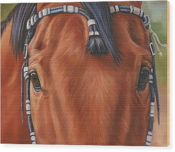 Western Braids Wood Print by Kathleen  Hill