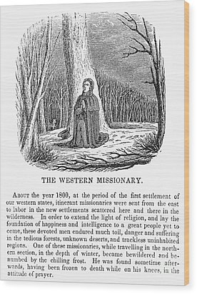 Western Missionary Wood Print by Granger