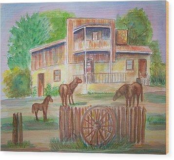 Western Recluse Wood Print