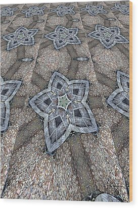 Wood Print featuring the digital art Western Star Tile by Michelle Frizzell-Thompson