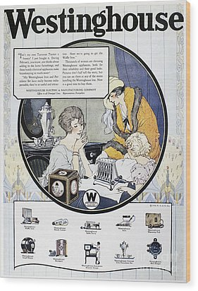 Westinghouse Ad, 1924 Wood Print by Granger