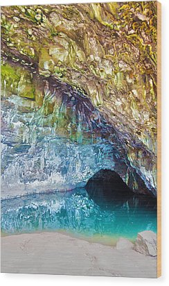 Wet Cave Wood Print by Artistic Photos