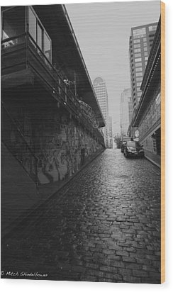 Wood Print featuring the photograph Wet Cobbles by Mitch Shindelbower