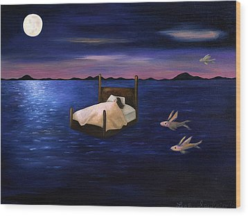 Wet Dreams Wood Print by Leah Saulnier The Painting Maniac