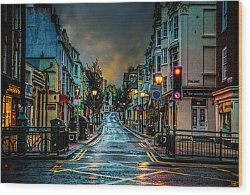 Wet Morning In Kemp Town Wood Print by Chris Lord
