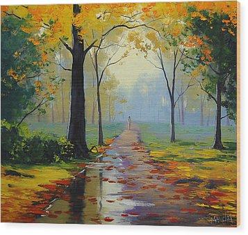 Wet Road Wood Print by Graham Gercken