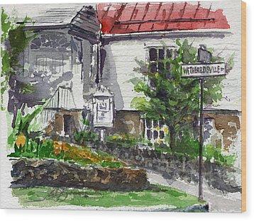 Wetheredsville Street Wood Print