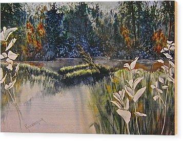 Wetlands Wood Print by Carolyn Rosenberger
