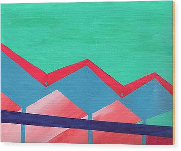 Wexler Folded Roof Seven Wood Print by Randall Weidner