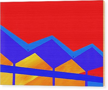 Wexler Folded Roof Two Wood Print by Randall Weidner