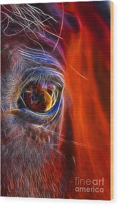 What Are You Looking At Now? Wood Print by Mariola Bitner