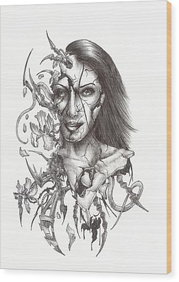 What Is On The Inside Part Two Wood Print by Anthony McCracken