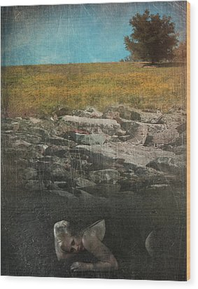 What Lies Below Wood Print by Laurie Search