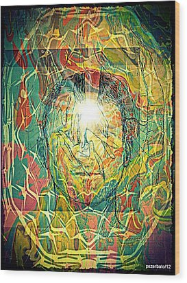 What Really Matters Is The Light That Shines In Us Wood Print by Paulo Zerbato