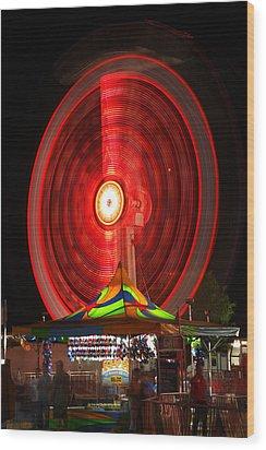 Wheel In The Sky Wood Print by Gordon Dean II