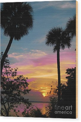 Wood Print featuring the photograph When Day Is Done by Judy Via-Wolff