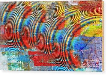 When Echo Rings Wood Print by Fania Simon