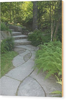 When Paths Intertwine Wood Print