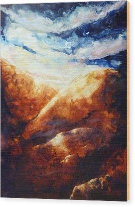 When Sorrow Is A Mountain Wood Print