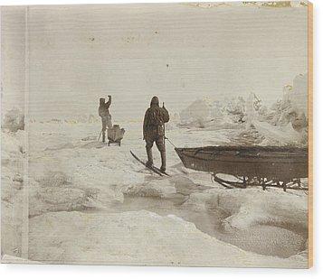 When The Fram Did Not Reach The North Wood Print by Fridtjof Nansen