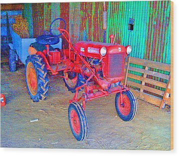 When Tractors Were Tractors Wood Print by Duncan Pearson
