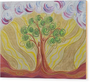 When Two Become One Wood Print by Marion Bradish