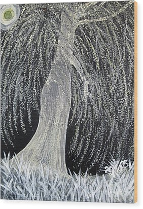 When Willows Weep Wood Print