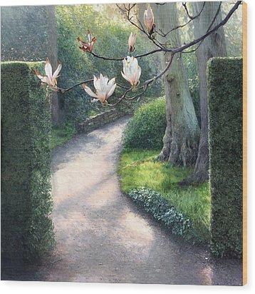 Where I Fell In Love Wood Print by Helen Parsley