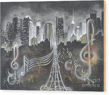 Where The Music Never Sleeps Wood Print
