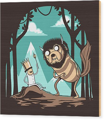 Where The Wild Adventures Are Wood Print by Michael Myers