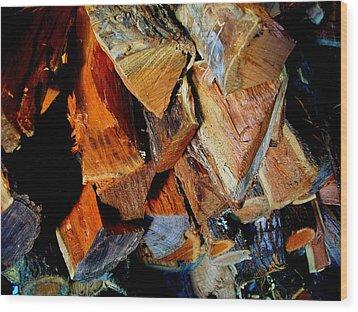 Wheres The Brisket Wood Print by Laurette Escobar