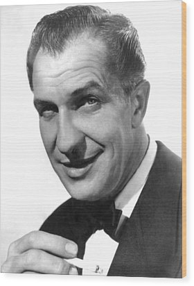 While The City Sleeps, Vincent Price Wood Print by Everett